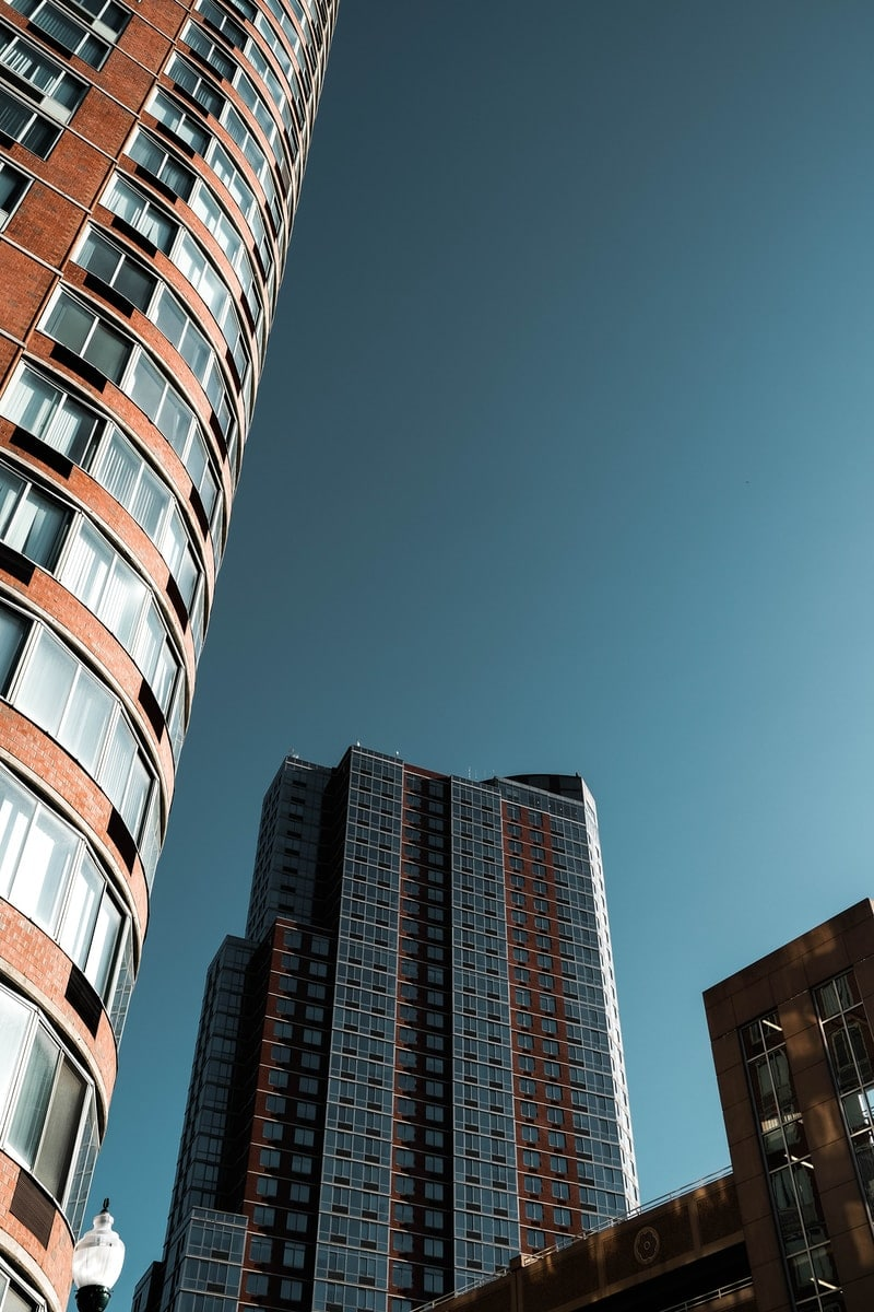 grey and brown high-rise building