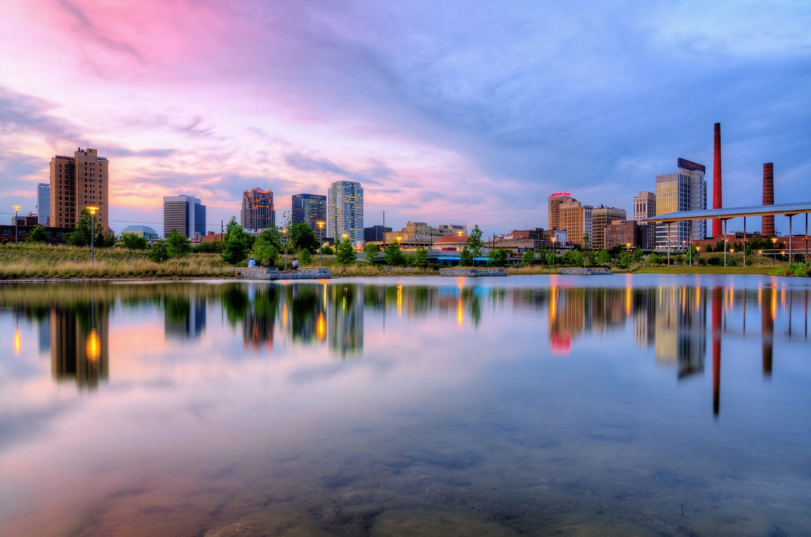 landscape photography of cityscape by water